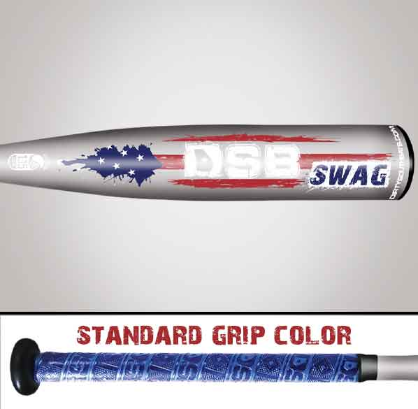 2pc swag grey bat and grip close up picture