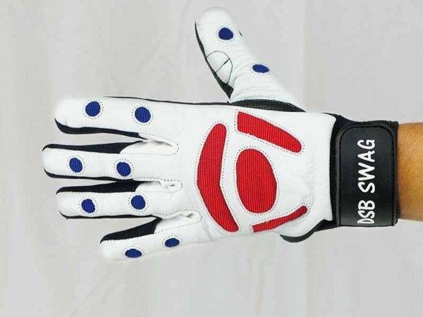 dsb red black swag gloves front