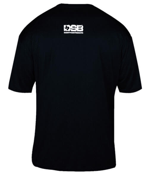 texas big shirt black rear view